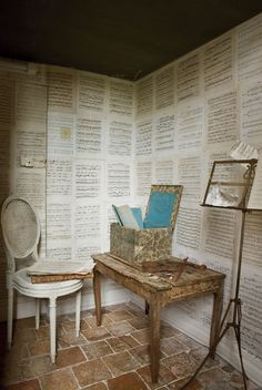 What I'm planning on doing in my bedroom - using Phantom of the Opera sheet music as wallpaper :)