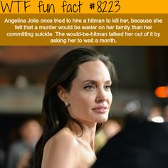 Angelina Jolie hired a hitman to kill her - WTF fun facts #AmazingFacts