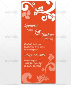 Paradise Wedding Invitation & Card Template InDesign INDD. Download here: http://graphicriver.net/item/paradise-wedding-invitation/116871?s_rank=945&ref=yinkira
