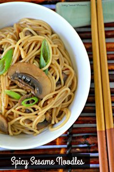 These easy to make delicious Vegetarian Spicy Sesame Noodles are ready in 20 minutes or less and is the perfect quick night dinner recipe for your family.