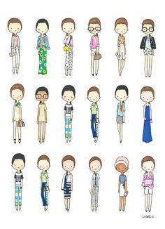Fashion Girls Digital 5 OPTIONS by catplusmouse on Etsy