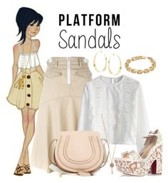 """Platform Sandals"" by misshonee ❤ liked on Polyvore"