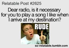 Yeah dear radio, considering your record I think I will join the smart people and listen to my phone