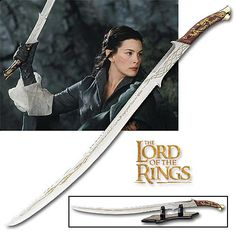 Hadhafang - Sword of Arwen. Forged for Idril, an elven princess who married a mortal, the great grandparents to Elrond, Arwen's father.