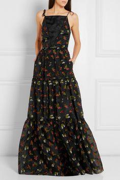 Erdem | Selma fil coupé silk-organza gown | NET-A-PORTER.COM