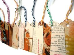 Bread- Vintage Cookbook Gift Tags- One Dozen Random Selection- Bakers Twine Strings- Ready to Ship. $12.00, via Etsy.