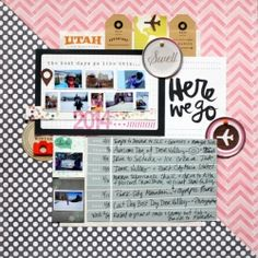 Here We Go (scraplift of an Amy Tangerine layout)