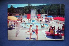 Circa1960 Fenton MO Riviera Pool & Park on Highway 141