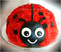 Do you like healthy desserts? Check the link to our site to read more. You can find Ladybug cakes and more o. Little Girl Birthday Cakes, First Birthday Cakes, 1st Birthday Parties, Ladybug Birthday Cakes, Little Girl Cakes, Frozen Birthday, Birthday Ideas, Ladybug 1st Birthdays, First Birthdays