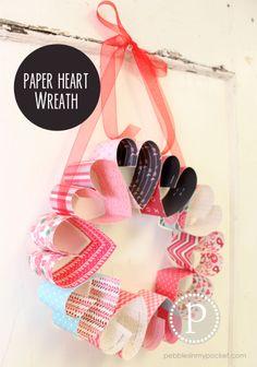 #Paper #Heart #Wreath | <3 http://shop.pebblesinmypocket.com/SearchResults.asp?Search=paper+heart+wreath&Submit=