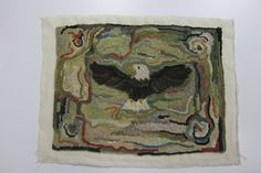 Beautiful primitive eagle made by Pam with the Colorado Rug & Fiber Guild