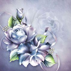 Пазл онлайн: Фарфоровые розы