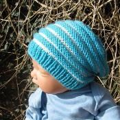 Baby Stripe Slouch Hat - via @Craftsy