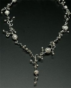 Celebration Sprout Necklace - Jewelry Making Daily...silver & pearls