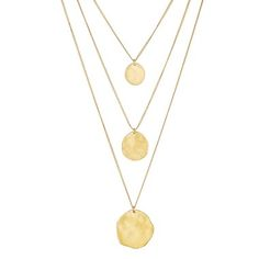 Visit my site and let me help you order!https://www.chloeandisabel.com/boutique/jayThree Row Paillette Graduated Pendant on a white background