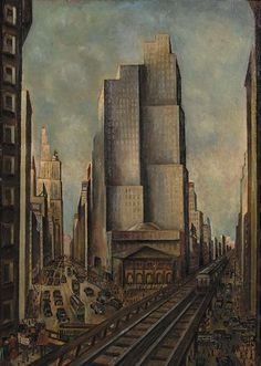 Adriaan Lubbers (Dutch, 1892-1954), Herald Square No. 55. Oil on canvas, 90 x 65.5cm.