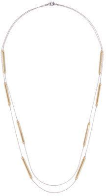 New York & Co. Double-Row Bar Accent Necklace