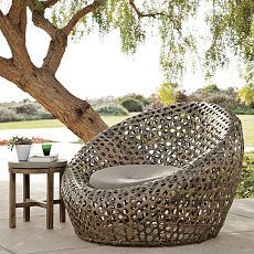 Montauk Nest Chair from West Elm.  I would love to nest in this chair!