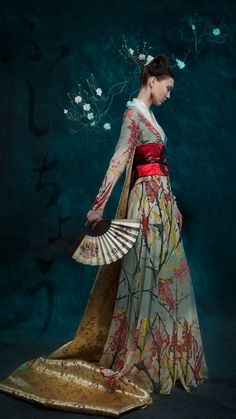 Spring kimono (what if the wedding has a japan style? i would love it!)