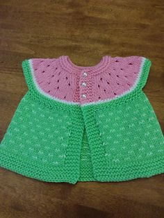 d84706c169db6d ... pattern by Stitchylinda Designs. Sleeveless summer baby cardigan in  watermelon colours with eyelet increases which look like watermelon seeds -  what ...