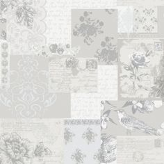 Coloroll Love Letters Wallpaper Old Rose - Coloroll from I love wallpaper UK Rose Gold Wallpaper, Shabby Chic Wallpaper, Wallpaper Uk, Feature Wallpaper, Pattern Wallpaper, Beautiful Wallpaper, Wallpaper Ideas, Shabby Chic Tapete, Silver Home Accessories
