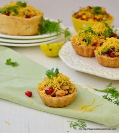 Here I go with my fusion experiment of Indian Chaat with Fruits and Tart. Once you put this in your mouth, you will be experiencing and getting lost in the gamut of flavors. INGREDIENTS:- For tart shell: 200 gms, all-purpose flour 110 gms, butter ½ tsp, carom seeds (ajwain) ½ tsp, cumin seeds Few tablespoons … … Continue reading →
