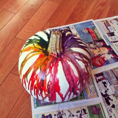Fall crafts (maybe do black and orang) Thanksgiving Crafts, Fall Crafts, Halloween Crafts, Holiday Crafts, Holiday Ideas, Halloween Decorations, Halloween Party, Arts And Crafts, Diy Crafts