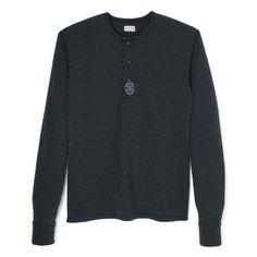 Stevenson Overall Co. Wool Long Sleeve Henley - LH1