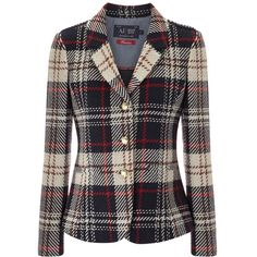 4782984ac75 Armani Jeans Prince Of Wales Check Wool Blend Blazer ( 120) ❤ liked on  Polyvore · Jean JacketsCoats ...
