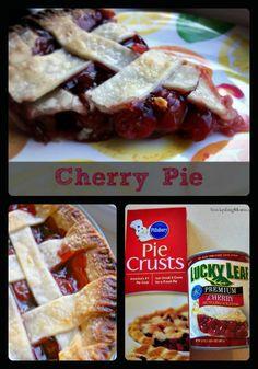 We love this easy 4 ingredient Cherry Pie.  All American Winner!