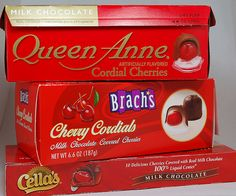 Chocolate-covered cherries we always got the Brachs kind at Christmas