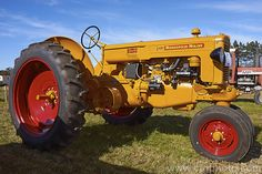 A fully restored 1949 Minneapolis Moline ZAU, a tractor that first appeared as a row-crop model and was later joined by tricycle style ZAU and the standard width ZAS. Production ran from More Tractor Photos. Antique Tractors, Vintage Tractors, Tractor Photos, Minneapolis Moline, Tricycle, Farm Life, Royalty Free Photos, Restoration, Farming