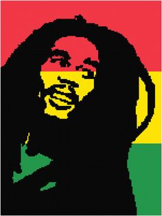 Bob Marley crochet Graph Chart Pattern  Afghan by MadeEspecially on Etsy, $3.75