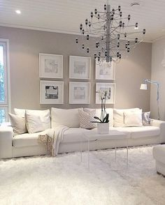 white living room decor view larger red black and white living room decorating ideas. white living r Living Room Red, Living Room Interior, Cream Carpet Living Room, Cream And White Living Room, Cream Living Room Decor, Beige Living Rooms, Room Carpet, Living Room Colors, Living Room Paint