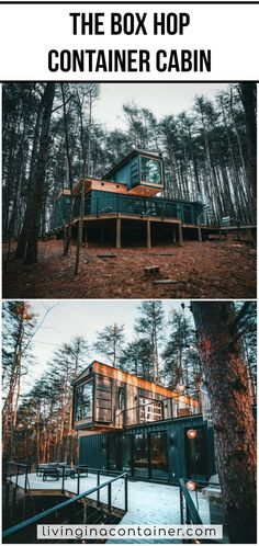The Box Hop cabin is an amazing takeoff from customary cabin structure — using repurposed shipping containers to make a warm,all encompassing experience inside the segregated woods of Ohio.  #shippingcontainerhomes  #shippingcontainercabin  #containerhouse  #containerhousedesign  #containerbuildings #containercabin #luxuryhomes #containerhomes #housedesign #beforeandafterhome