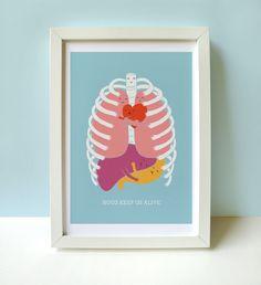 Hugs Keep Us Alive - Print