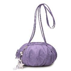 Women's Purple Cinderella pumpkin carriage Messenger Bags