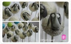 Dragon Sheep ~ How to Train Your Dragon 2 cake pops with edible fondant sculptures for DreamWorks Animation ♥ Toothless Party, Toothless Cake, Dragon Birthday Cakes, Dragon Cupcakes, Sheep Cake, Viking Party, Dragons, Dragon Party, Film D'animation