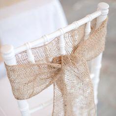 60 X Burlap Hessian Chair Sash Wedding Rustic ***** nicky*****