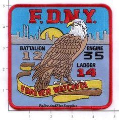 Engine 35 Ladder 14 Battalion 12 Fire Patch v3