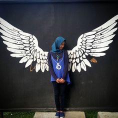 I found my wings And all I have to do is Fly Graffiti Wall Art, Mural Wall Art, Mural Cafe, Angel Wings Wall Art, Christ Tattoo, Wings Drawing, Art Sketches, Painting, Nail