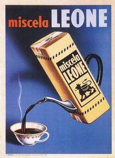 Miscela Leone ; vintage Italian advertising http://www.goodeatsfanpage.com/faq/images/miscela_leone.jpg