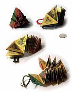 "Miniature Book ""Agathon s Book of Dreams"" Dream Book, Japanese Books, Handmade Books, Book Binding, Book Journal, Altered Books, Book Making, Mini Books, Watercolor And Ink"