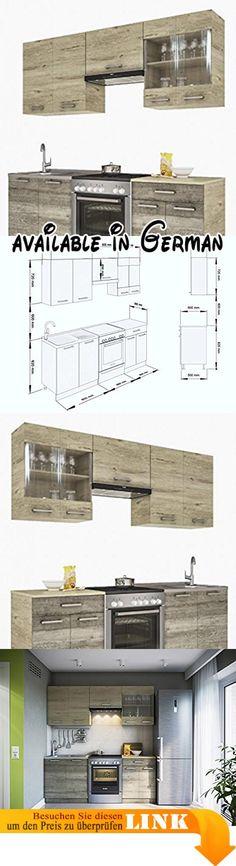 B01MAYVX6H  NEU KÜCHE Martha Weißlack 230x170 CM KÜCHENZEILE - einbauküchen für kleine küchen