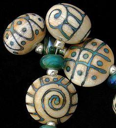 DSG perles fait main Murano organique par debbiesanders sur Etsy