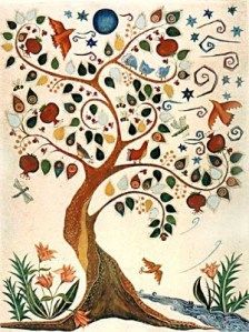 Tree of Life Painting, Small Vertical without Hebrew Framed Jewish Tree Of Life - Bing Images Bordado Jacobean, Tree Of Life Images, Tree Of Life Painting, Tree Of Life Artwork, Arte Judaica, Jewish Gifts, Tree Quilt, Guache, Jewish Art