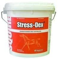 3 PACK STRESS-DEX ELECTROLYTE POWDER, Size: 4 POUND (Catalog Category: Equine Supplements:SUPPLEMENTS) by NEOGEN SQUIRE D. $43.83. Contains the perfect blend of electrolyte salts and minerals to replenish the horse s body and prevent dehydration. Can be used daily in feed or water. Appetizing orange flavor that is loved by even the most finicky horses. Helps control fluid/electrolyte imbalance. Helps replenish the body of lost electrolytes during periods of stress, illness...