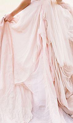 Monique Lhuillier pink bridesmaid dress