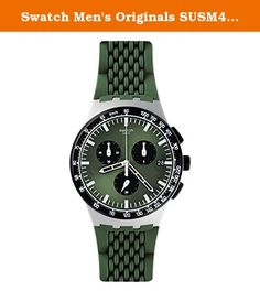 Swatch Men's Originals SUSM402 Green Rubber Quartz Watch. So youre a guy who likes to have fun with his wardrobe but keep it stylish at the same time Youre in luck The Swatch brand is known for its production of fun and fashionable timepieces from bright colors to metallic to patterns to textures to different styles of watchbands This Originals watch by Swatch is one of our favorites for many reasons and were pretty confident that youll like it too It catches ones eye immediately with its...