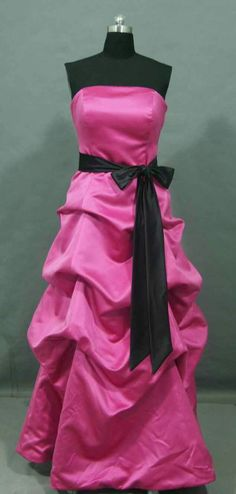Pink and Black Wedding Ideas reverse colors and make it short for briadsmaids